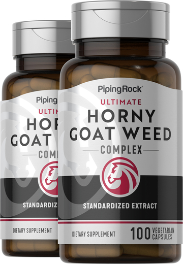 Horny Goat Weed Extract 2 Bottles x 100 Capsules