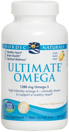 Ultimate Omega (cytryna) 120 Tabletki żelowe