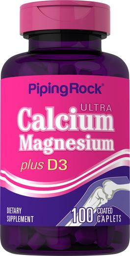 Ultra Calcium Magnesium Plus D3 1000Cal,500Mag,1000 D IU 100 Coated Caplets