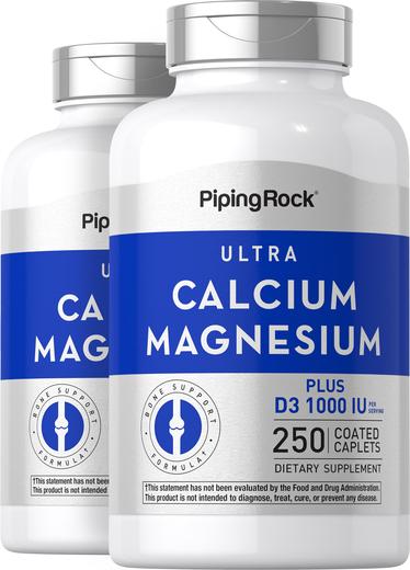 Wapń, magnez plus witamina D3 (wapń 1000 mg, magnez 500 mg, D3 1000IU) (na porcję) 250 Powlekane kapsułki