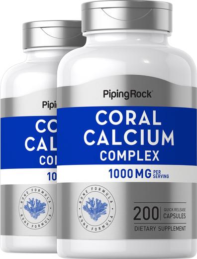 Ultra Coral Calcium Supplement Complex 1000mg 2 x 200 Capsules