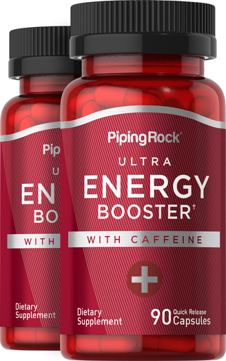 Energy Boost Supplement 90 Coated Pills 2 Bottles
