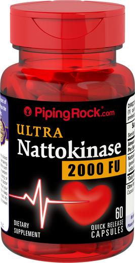 Nattokinase 2000 FU 100 mg 60 Supplement Capsules