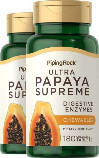 Ultra enzym z papai 180 Tabletki do żucia