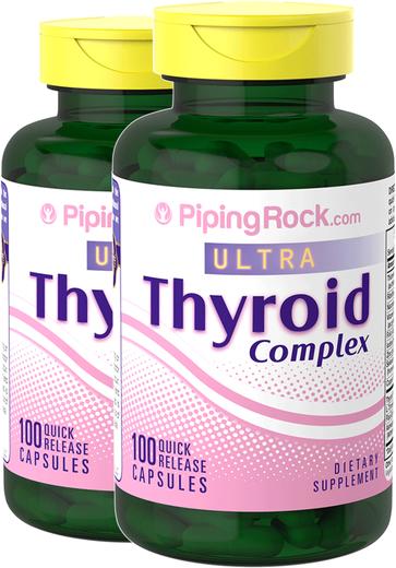 Thyroid Support 2 Bottles x 100 Capsules