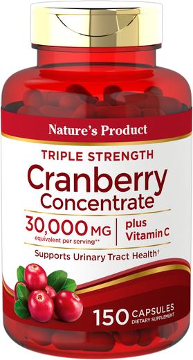 Ultra Triple Strength Cranberry Plus C 30,000 mg, 150 Caps