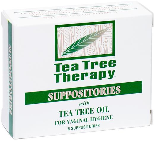 Supositórios vaginais com óleo de árvore do chá, 6 Supositórios