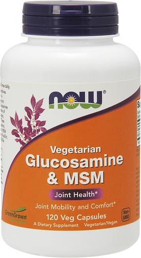 Glucosaina Vegetariana e MSM , 500 mg, 120 Cápsulas vegetarianas