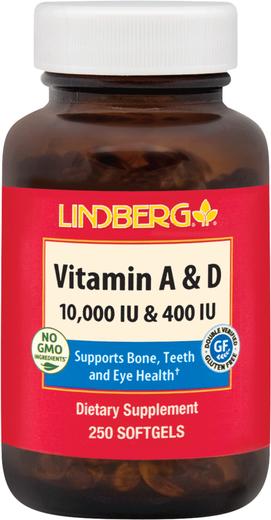 Witamina A & D3 A-5000 IU D-400 IU (10000 IU / 400 IU) 250 Tabletki żelowe