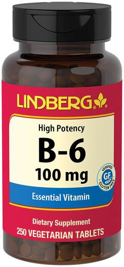 Vitamin B-6 100 mg, 250 Veg Tabs
