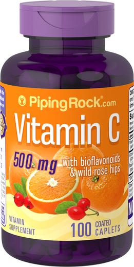 Vitamin C 500 mg w/ Bioflavonoids & Rose Hips