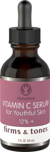 ビタミン C 美容液12%+ 2 fl oz (59 mL) スポイト ボトル