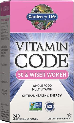 Vitamin Code 50 & Wiser Women Multivitamin, 240 Veg Caps