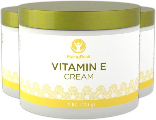 Creme de vitamina E, 4 oz (113 g) Boião, 3  Jarras