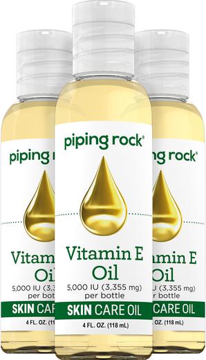 Aceite cutáneo de Vitamina E natural pura -  4 fl oz (118 mL) Botellas/Frascos