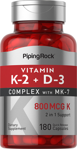 Vitamin K-2 Complex 800 mcg with D3, 180 Capsules