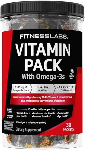 Vitamin Pack with Omega-3s, 30 Packets