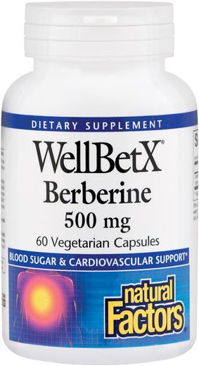 WellBetX Berberine 500 mg, 60 Veg Caps