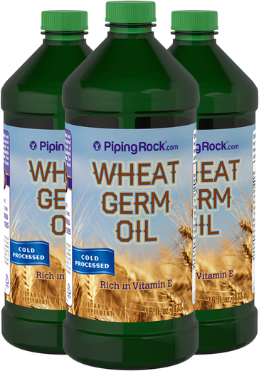 Wheat Germ Oil (Cold Pressed) 3 Bottles x 16 fl oz