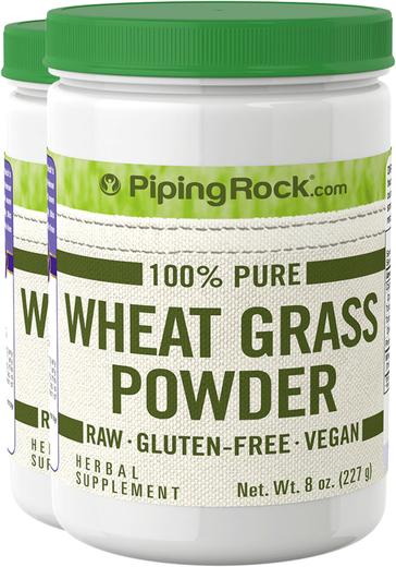 Pó de erva de trigo, 8 oz (227 g) Frascos, 2  Frascos