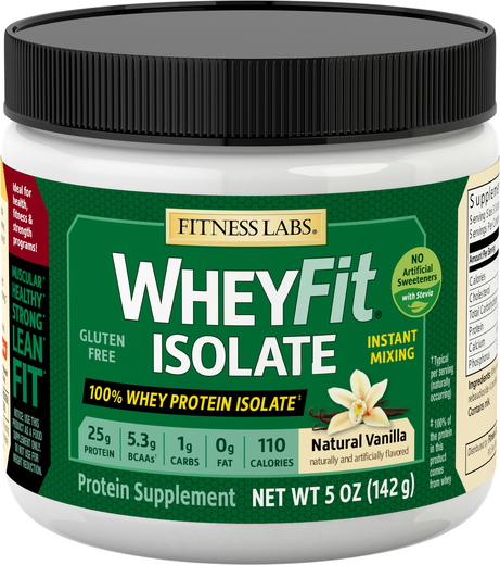 Whey Protein Isolate WheyFit (Natural Vanilla) (Trial Size), 5 oz