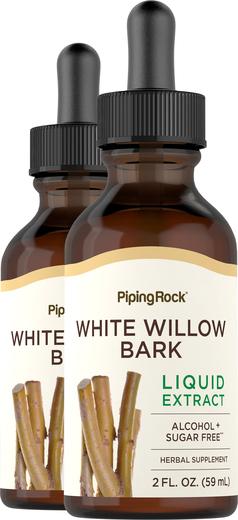 White Willow Bark Liquid Extract Alcohol Free 2 fl oz (59 mL) Butelka z zakraplaczem