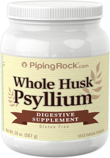 Gehele psylliumschil 20 oz (567 g) Fles