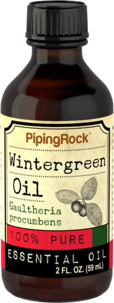 Wintergreen Essential Oil 2 fl oz 100% Pure Oil Therapeutic Grade