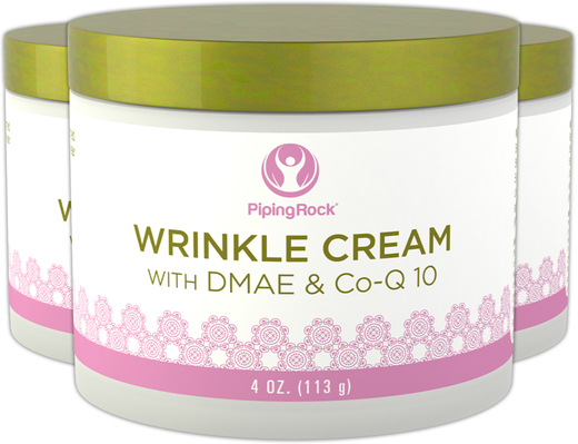 Wrinkle Cream with DMAE & Co-Q-10 3 Jars x 4 oz (113 g)