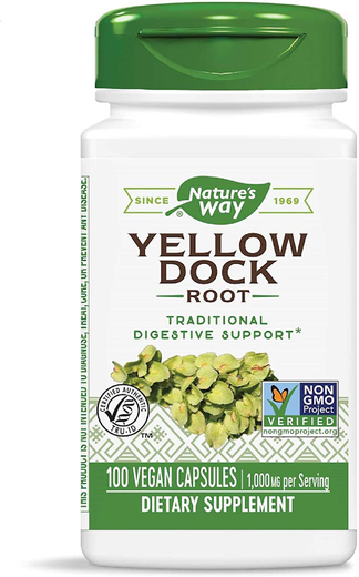 Yellow Dock Root Extract, 1000 mg (per serving), 100 Capsules
