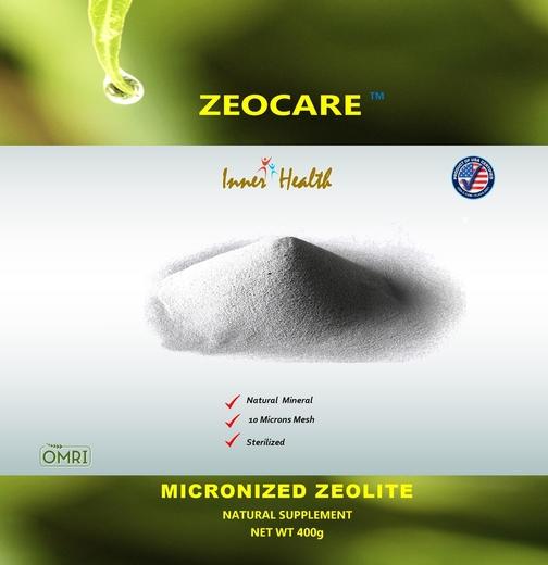 Zeolito micronizado Inner Health, 400 g (14.11 oz) Saco