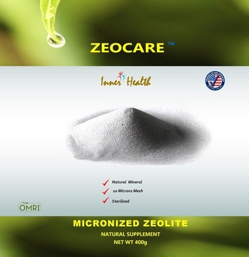 Zeolito micronizado Inner Health 400 g (14.11 oz) Saco