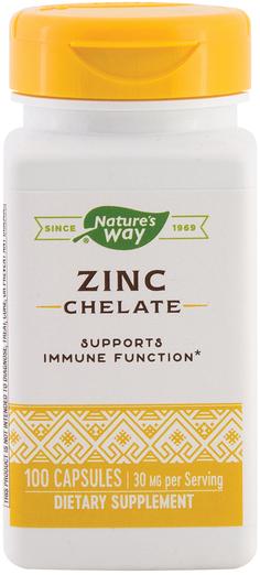 Zinc Chelate, 30 mg, 100 Caps