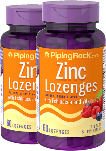 Zinc Lozenges with Echinacea 2 Bottles x 60  Lozenges