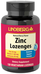 Zinc Lozenges with Vitamin C (Natural Berry), 120 Lozenges