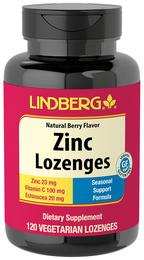 Pastylki z cynkiem i witaminą C (naturalny jagodowy) 120 Tabletki