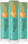 Argan Oil Lip Balm 3 Pack 3 Tubes x 0.15 oz (4 g)