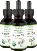 Pure Argan Moroccan Oil Liquid Gold 3 Dropper Bottles x 2 fl oz (59 mL)