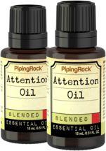 Attention Essential Oil 2 Dropper Bottles x 1/2 oz (15 ml)