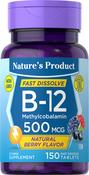 B-12 Methylcobalamin (Natural Berry) 150 Comprimés à dissolution rapide