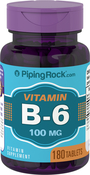 Vitamin B-6 100mg (Pyridoxine) 180 Tablets