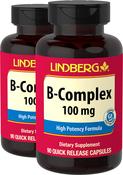 B-Complex 100 mg, 90 Caps x 2 bottles