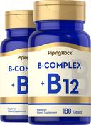 B Complex + VitaminB-12 2 Bottles x 180 Tablets