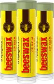 Beeswax Lip Balm 3 Pack (3 Tubes x 0.15 oz)