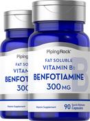 Benfotiamine Supplement (Fat Soluble Vitamin B-1) 300 mg, 90 Capsules