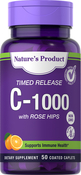 C-1000 with Rose Hips Timed Release, 1000 mg, 50 Coated Caplets