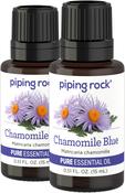 Chamomile German Blue Pure Essential Oil (GC/MS Tested), 2 Dropper Bottles x 1/2 fl oz (15 mL)