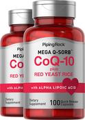 CoQ10 mit Rotreis-Hefe 100 Kapseln mit schneller Freisetzung