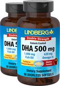 DHA Enteric Coated 500 mg, 90 Softgels x 2 Bottles