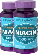Flush Free Niacin 500 mg 2 Bottles x 100 Capsules
